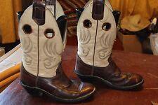 VINTAGE OLATHE 2-TONE BUCKAROO STYLE COWBOY BOOTS 6.5 C