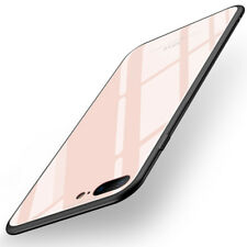 MSVII Luxury Tempered Glass Hybrid TPU Shockproof Protect Case Cover For iPhone