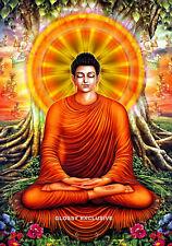 GAUTAMA  BUDDAH ART buddhism A4 GLOSSY PHOTO POSTER 280gsm A4 SIZE FREE P&P