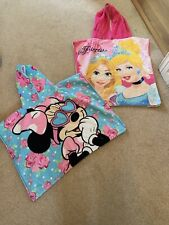2x Disney Kids Hooded Towels