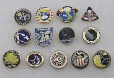 NASA Apollo 1,7,8,9,10,11,12,13,14,15,16,17 Lapel Pin set-Replica