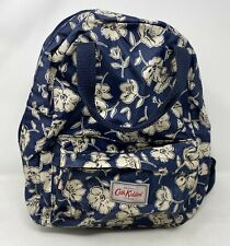 Cath Kidston London Blue Floral Backpack Travel Rucksack School Shoulder Bag Zip