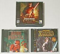 PC CD-ROM video game lot of 3 - STAR WARS Knights of Old Republic - Yoda Stories