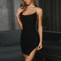 Dress Short Evening Bodycon Party Mini Women's Cocktail Sleeveless Bandage Club