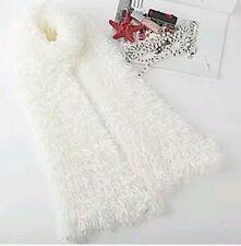 Women Ladies Magic Scarf White Colour Fluffy Snood Shawl Neck Warmer Poncho