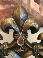 KS Designer INSPIRED Tear Drop Filigree  Silver/Gold  Necklace