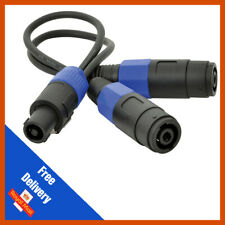 1 x QTX Speakon Speaker Cable Splitter 2 Way Amplifier PA DJ Lead Adaptor