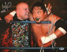 Mikey Whipwreck & Yoshihiro Tajiri Signed 11x14 Photo BAS COA WWE ECW Autograph