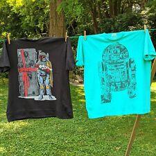 2 Star Wars Men's T-shirt Size XXL  R2D2 Luke Skywalker