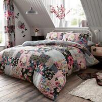 Luxury Floral Duvet Cover Set Single Double Super King Sizes Reversible Bedding