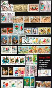 EUROPA 1989 Collection Children's Toys & Games 27 sets/25 countries SG Cat A$385