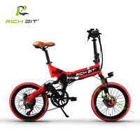 RICH BIT 20'' mini Folding Bike ebike BMX 250W 48V Electric Bicycle   city ebike