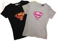 Womens Ladies Superman Logo Summer Gym Tank Top T Shirt Tee Shirt Size 10-16 New