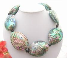 Big Natural 43x58mm Paua Abalone Shell Necklace