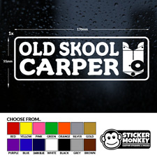 OLD SKOOL CARPER - Fishing/Angling, Van/Car/Tackle Box, Sticker/Decal Any Colour