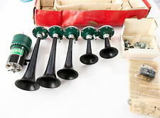 Vintage New Stebel Vicenza Italy 5 Piece Black Air Horn Kit River Kway 12v