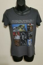 Star Wars Cast In Cubes Leia Droid Starwalker Vader T-shirt Size XS Gray Grey