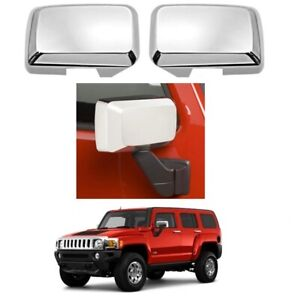 FOR 2006-2010 HUMMER H3 CHROME SIDE MIRROR COVERS OVERLAY