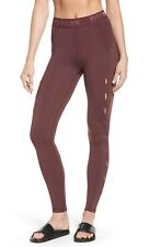 a991e8e2c4265c IVY PARK High Waist Keyhole Detail Ankle Leggings in Burgundy Brown sz L  NEW $82
