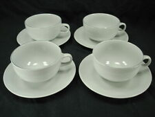 4 Faiance Aluminia/Royal Copenhagen Blue Line Beehive Mark No # Tea Cup/Saucers