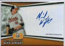 2012 Bowman Platinum  MIKE WRIGHT Autographed Rookie FIRST AUTO CARD