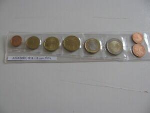monnaie euro Andorre série 2018 avec 1€ 2016