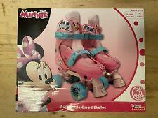 Playwheels Disney Junior Minnie Mouse Adjustable quad Roller Skates J10-j13 Fs