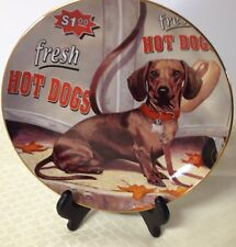 Dachshunds Dog Danbury Mint Collector Plate Hot Dog Christopher Nick 8""