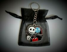 Jack / Sally Nightmare Before Christmas Keyring  / Bag Charm + Free Gift Bag