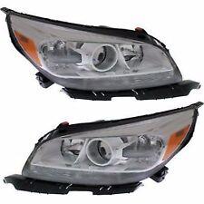 Headlight Set For 2013-2016 Chevrolet Malibu Driver/Passenger Side w/o bulb