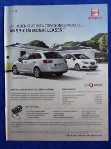 026) Seat Ibiza ST SC Copa - Werbeanzeige Reklame Advertisement 2011