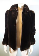 FABULOUS LADIES OVERLAND OUTFITTERS BROWN SHEARLING COAT~12-14 LARGE~EUC!