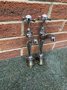 Polished Chrome Belfast Sink Kitchen Taps - C P HART Refurbished Stunning £145