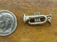 Vintage sterling silver BEAUCRAFT TRUMPET HORN MUSICAL INSTRUMENT charm BEAU