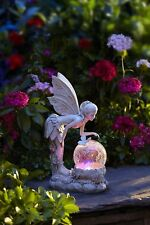 Outdoor Garden Lighting  Fairy Statue Globe Solar Powered Lawn Ornaments  Decor