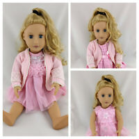 DRESS & CARDIGAN CLOTHES SET FOR OUR GENERATION / AMERICAN GIRL 18 INCH DOLL