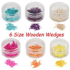50pcs Dental Disposable Wooden Wedges Restoration Interdental Contoured Wedge