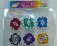 WELCOME TO LAS VEGAS SIGN Casino Chip Fridge Magnet Poker $1000 Man Cave 6 PACK