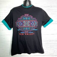 VTG Signal Sports Sun Valley Aztec T Shirt Double Collar/Sleeve XL Made In USA