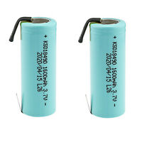 Kastar 2-Pack NCR18500A Li-Ion Rechargeable 3.7V 1600mAh Battery with Tabs
