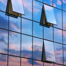 (9,18€/m²) 3m x1,52m Spiegelfolie Silber Tönungsfolie Sonnenschutz Fenster Folie