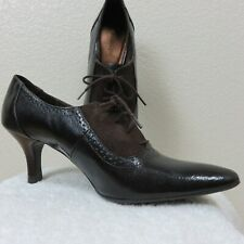 New Etienne Aigner KENO Size 9M Patent Leather Suede Ankle Oxford Heel Booties