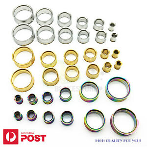 Tunnel Ear Stretcher Plug Steel Flared Screw Piercing Body Jewellery 2-30mm