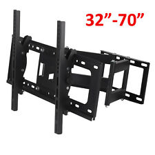 "Double Arms TV Wall Bracket Mount Tilt & Swivel for 32 40 42 46 50 55 60 70"" UK"