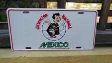 VTG RARE MEXICAN CAR PLATE WORLD SOCCER CUP MEXICO 1986 CANTINFLAS MARIO MORENO