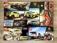 LEGO Speed Champions 76899 Lamborghini, 76897 Audi, 76896 Nissan, 76895 Ferrari