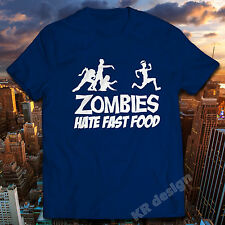Zombis Odio Fast Food Camiseta Invasión Apocalipsis Hombre Mujer Niños Camiseta