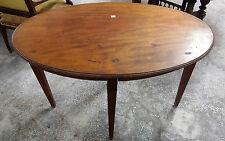 Tavolino antico ovale in mogano epoca Edoardiana inglese