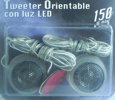 MINI TWEETER   O ALVAVOZ DE COCHE ORIENTABLE CON LUZ DE LED -150W