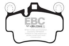 EBC Yellowstuff Front Brake Pads Porsche Cayman Cast Iron Discs only 2.9 09 > 12